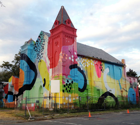 Abandoned church becomes brilliant urban art installation for Atlanta mural artist