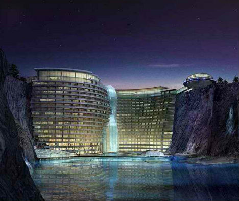Songjiang Quarry Hotel Construction 1