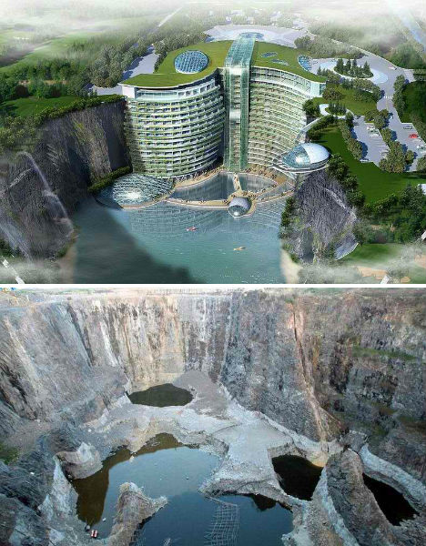 Songjiang Quarry Hotel Construction 2