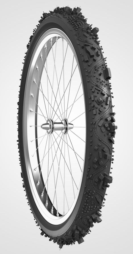 bike tire rubber rendering