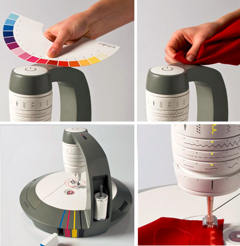 color scanning sewing machine