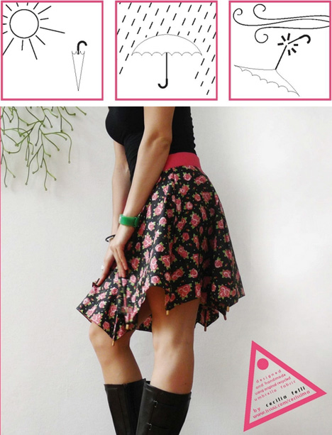 diy umbrella clothing concept