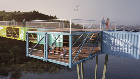econtainer bridge cantilevered lookout