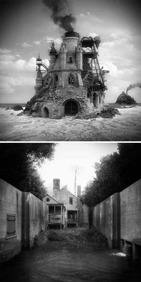 found architecture photo collages