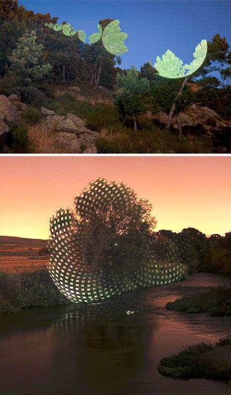 light geometric pattern painting