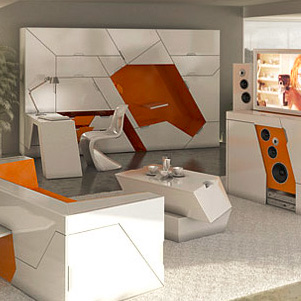 5 Room-in-a-Box Designs Form 100% Modular Home Interior