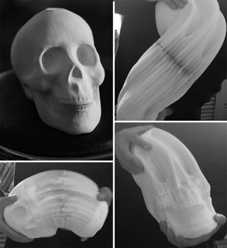 skull li hongbo paper sculpture