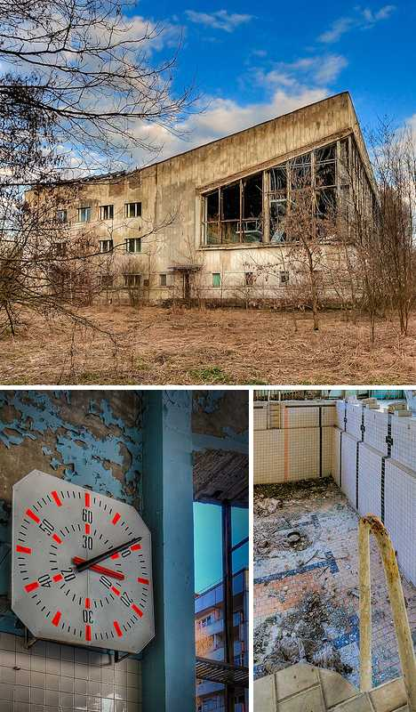 abandoned swimming pool Pripyat Chernobyl