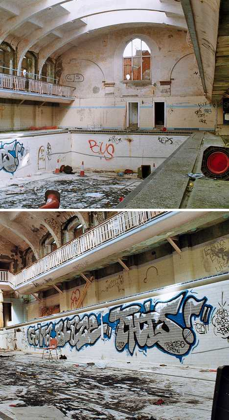 Durham Baths abandoned swimming pool