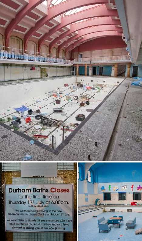 Durham Baths abandoned swimming pool