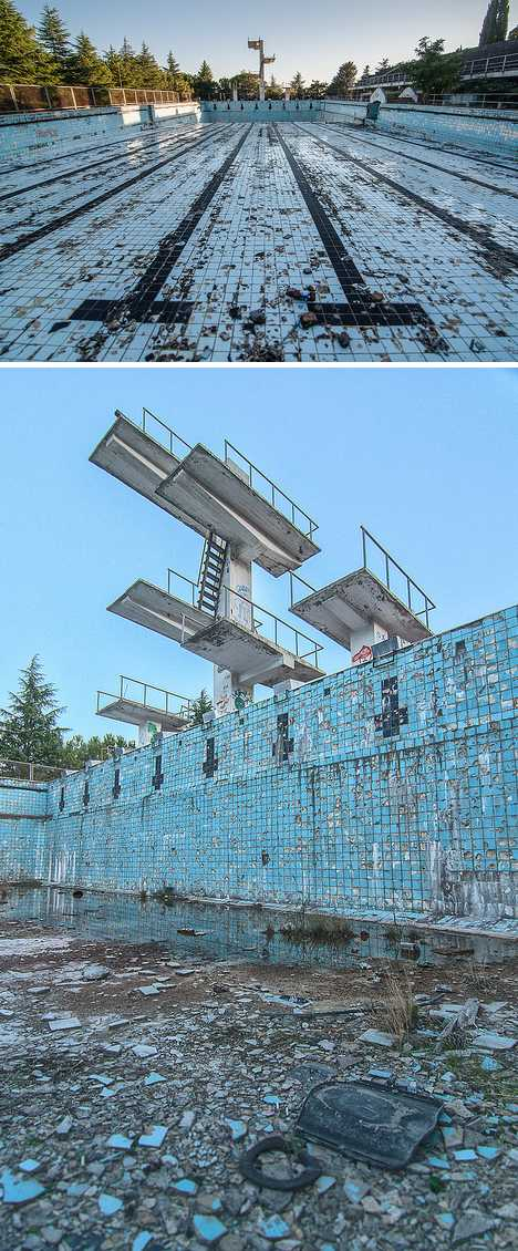 Off the deep end 12 abandoned swimming pools urbanist for How deep are olympic swimming pools
