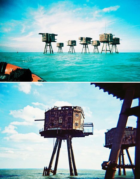 Abandoned Military Sea Forts