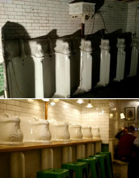 Attendant Urinal Restaurant 3