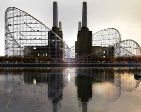 Battersea Power Station Rollercoaster 1