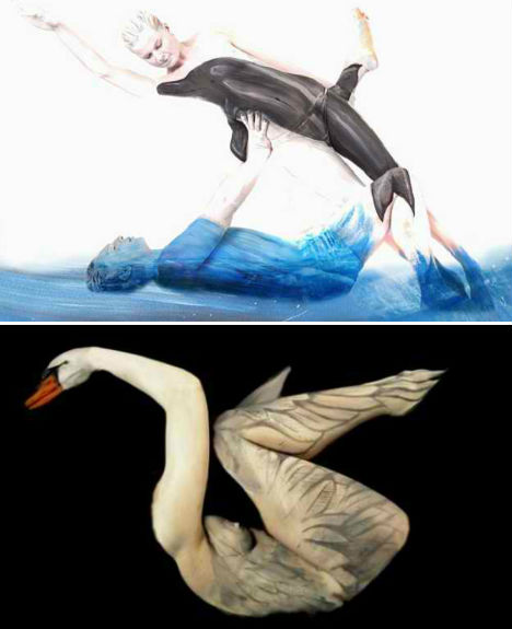 Body Paint Illusions Transform Human Models into Animals | Urbanist