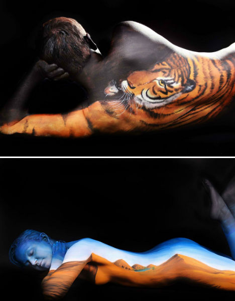 Body Paint Illusions Transform Human Models Into Animals Urbanist