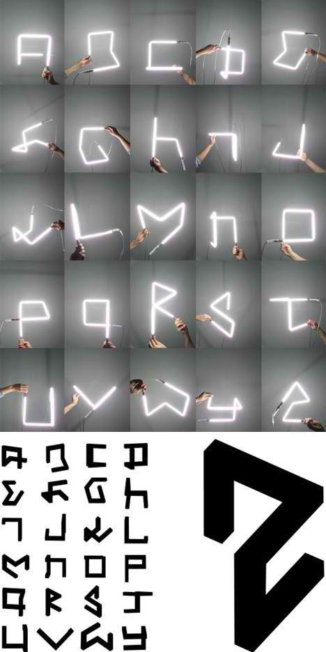 Built Alphabets  3D font