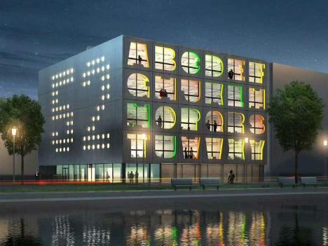 Architecturally literate 13 built alphabets spell design for Design agencies amsterdam