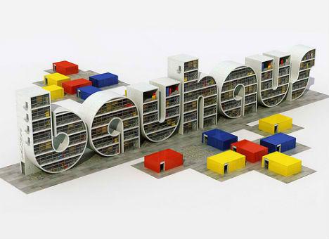 Built Alphabets Bauhaus