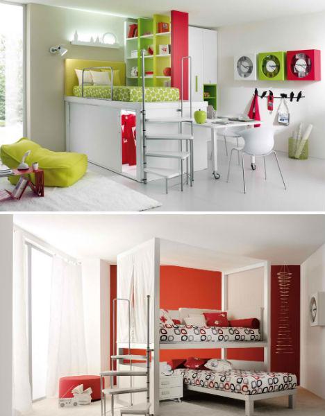 Lofted Kids Bedroom Sets 2