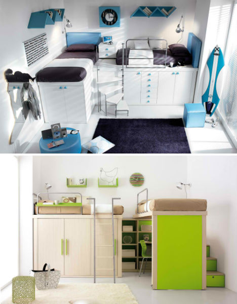 Lofted Kids Bedroom Sets 3