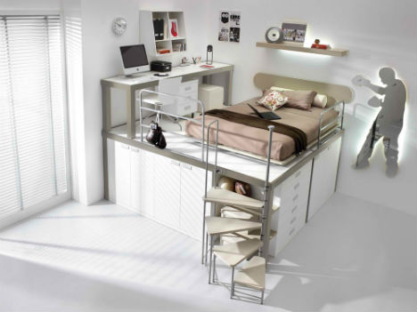 Lofted Kids Bedroom Sets 4