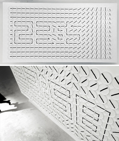 art installation analog clocks