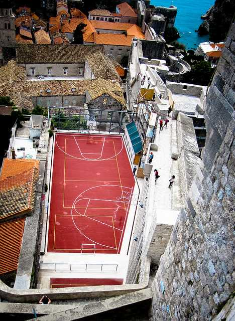 Dubrovnik Croatia basketball court