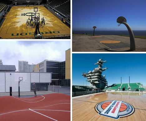 12 Weird, Wild & Wacky Basketball Courts