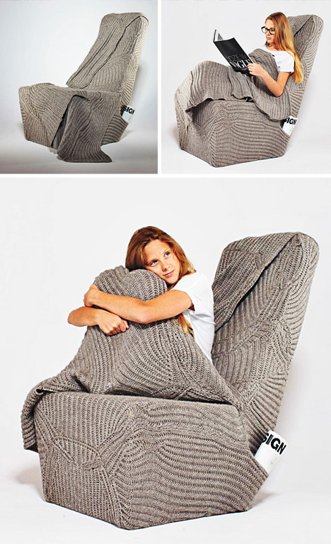 built in sweater chair