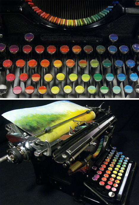 chromatic landscape printing machine