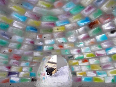 colorful iglooe interior blocks