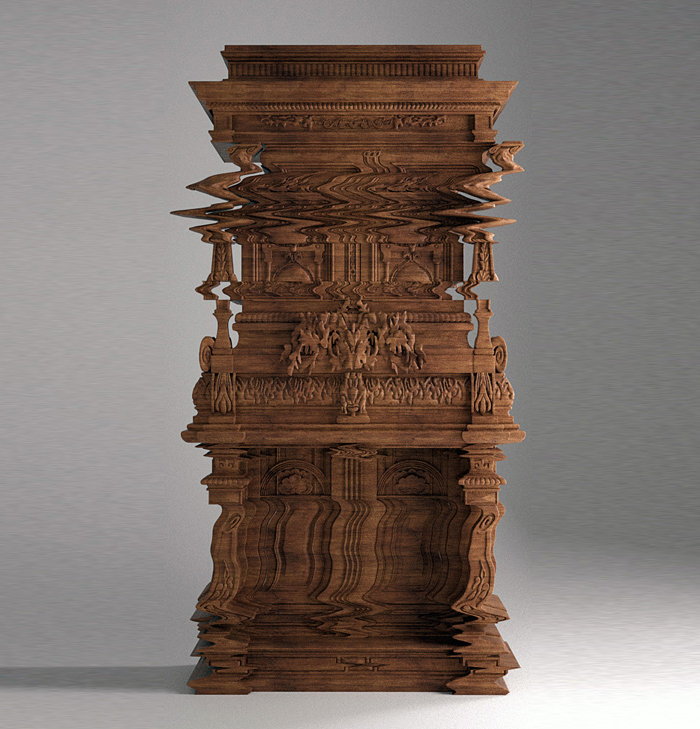 Not a Glitch: Cabinet Carved with Disorienting Design | Urbanist
