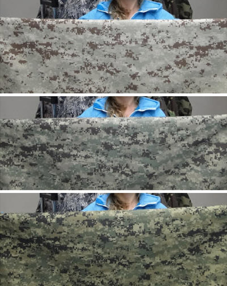 invisible changing camouflage material