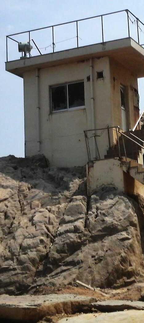 Genkaijima Japan abandoned lifeguard lookout tower