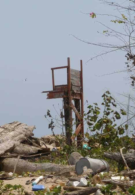 abandoned lifeguard tower Taboga Panama