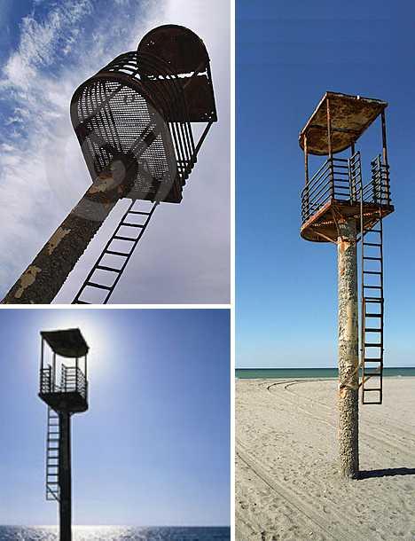 abandoned lifeguard tower Cabo de Gata Spain