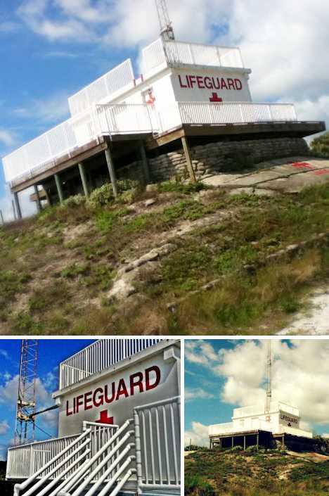 abandoned lifeguard station Hannah Park Mayport Florida