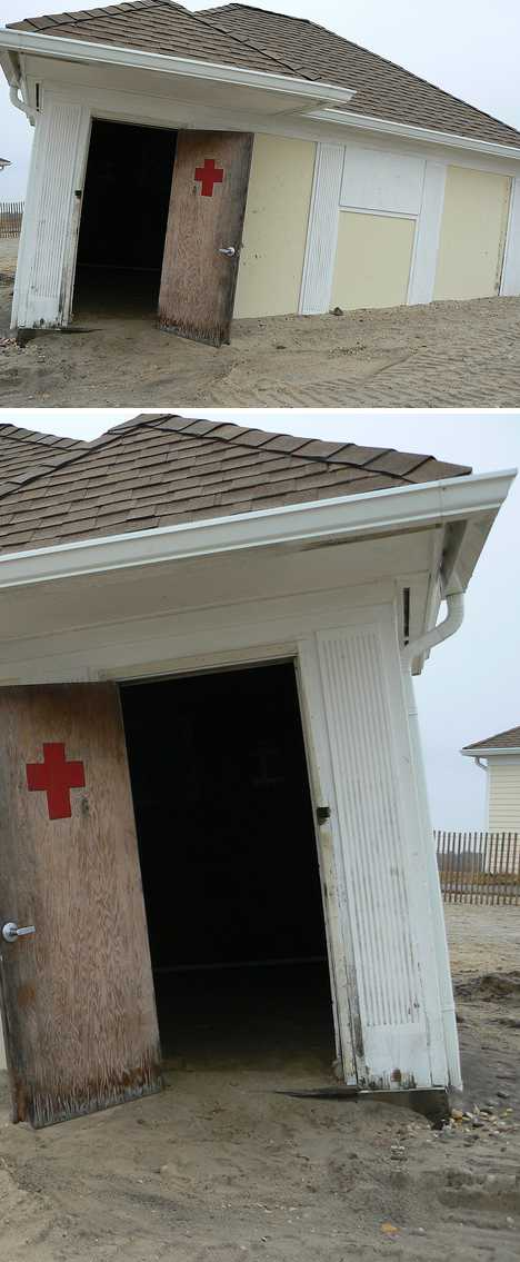 abandoned lifeguard hut East Islip NY