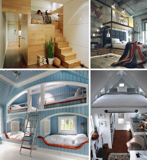 Small Homes That Use Lofts To Gain More Floor Space: Traditional To Contemporary: 6 Cool Custom Bedroom Lofts