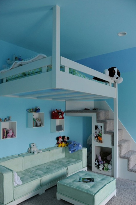 lofted kids bedroom design