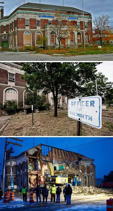 Detroit Highland Park abandoned police station