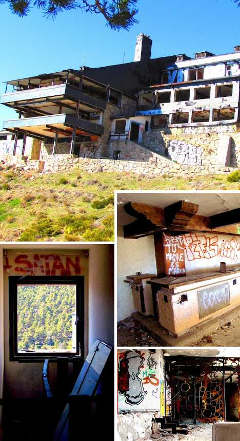 Club Alpino Guadarrama Spain abandoned ski resort