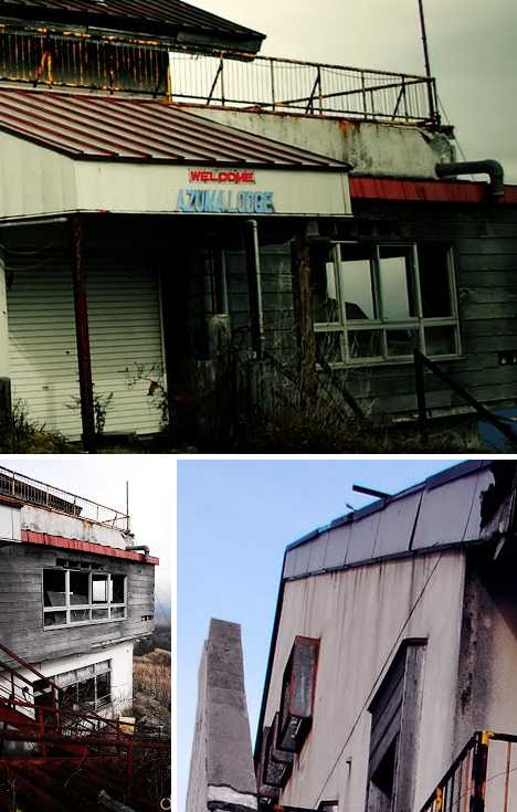 Azuma Lodge abandoned ski resort Japan