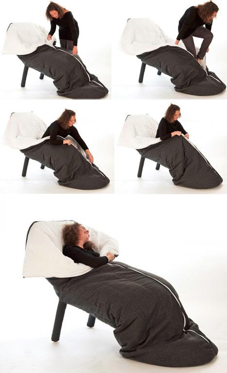 sleeping bag chair hybrid