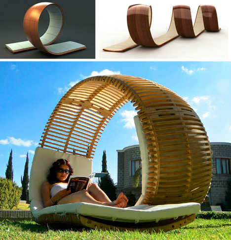 spiral two seat chair