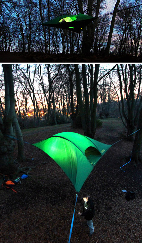 tentsile night setup detail