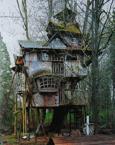 tree house steampunk style