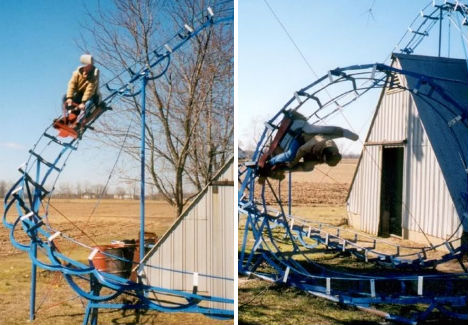 Private Playgrounds Backyard Roller Coaster 2
