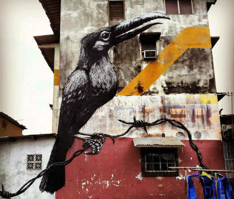 ROA Panama City Street Art 1
